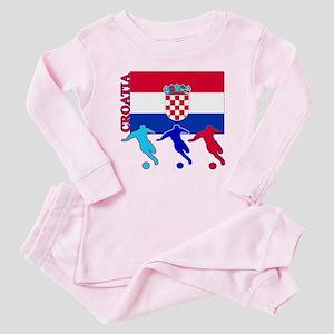 Croatia Soccer Baby Pajamas