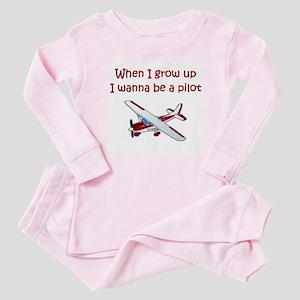 I Wanna Be a Pilot Baby Pajamas