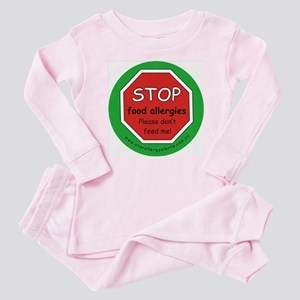 STOP food allergies. Dont feed me! Baby Pajamas