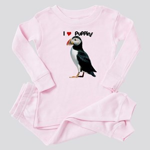 I Luv Puffins Baby Pajamas