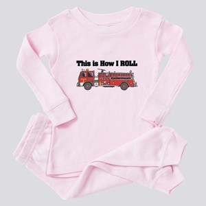 How I Roll (Fire Engine/Truck) Baby Pajamas