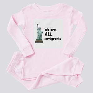 We're all immigrants Baby Pajamas