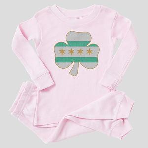 Irish Chicago flag shamrock Baby Pajamas