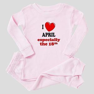 April 18th Baby Pajamas