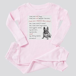 THEY are not Pugs (Serious Frenchie) Baby Pajamas