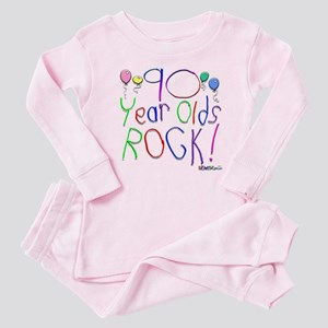 90 Year Olds Rock ! Baby Pajamas