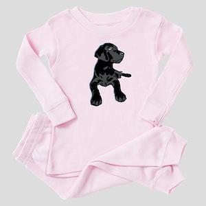 Black Lab Baby Pajamas