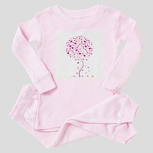 Tree of Hope - Breast Cancer Baby Pajamas