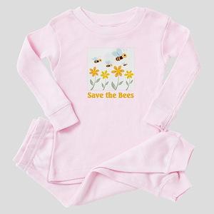 Save the Bees Baby Pajamas