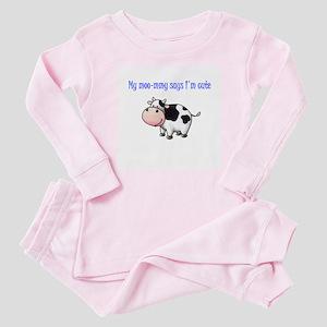Moo-mmy Baby Pajamas