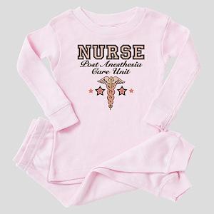 PACU Nurse Caduceus Baby Pajamas