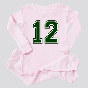 NUMBER 12 FRONT Baby Pajamas