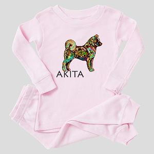 Glow Bright Akita Baby Pajamas