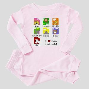 I Love Zoo Animals Baby Pajamas