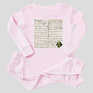 Shakespeare Insults Baby Pajamas