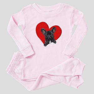 Black Frenchie Lover Baby Pajamas