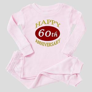 Happy 60th Anniversary Baby Pajamas