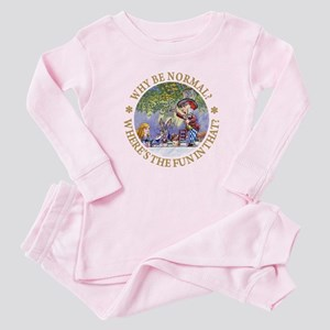 MAD HATTER - WHY BE NORMAL? Baby Pajamas