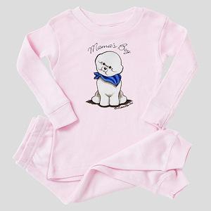 Bichon Mama's Boy Baby Pajamas