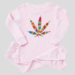 Rainbow Hippie Weed Baby Pajamas