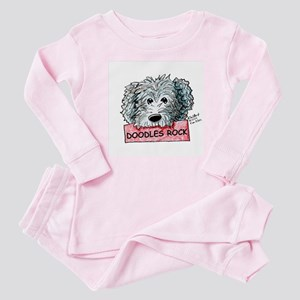 Doodles Rock Sign Baby Pajamas