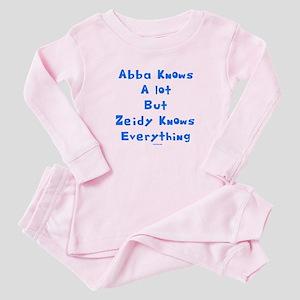 Zeidy Knows Jewish Baby Pajamas