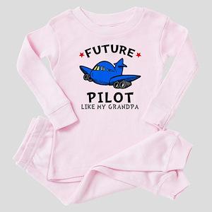 Pilot Like Grandpa Baby Pajamas