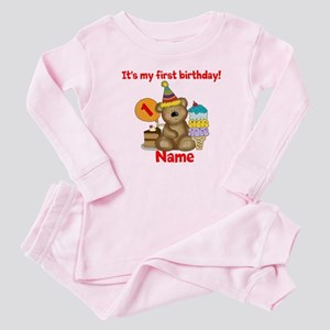 First Birthday Bear Baby Pajamas
