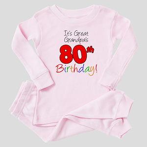 It's Great Grandpa's 80th Bir Baby Pajamas