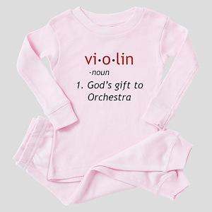 Definition of a Violin Baby Pajamas