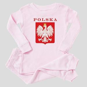 Polska Eagle Red Shield Baby Pajamas