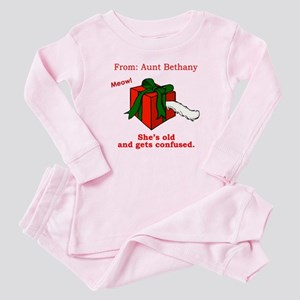 Aunt Bethany's Cat in a Box Baby Pajamas