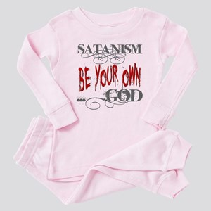 Satanism Be Your Own God Baby Pink Pajamas