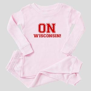 On Wisconsin Baby Pajamas