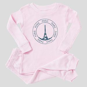 Vintage Paris Baby Pajamas