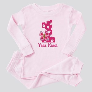 First Birthday Butterfly Baby Pajamas Suit