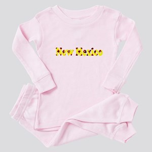 New Mexico Yellow Pattern 4Lea Baby Pink Pajamas