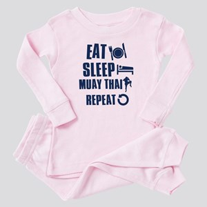 Eat Sleep Muay Thai Baby Pajamas