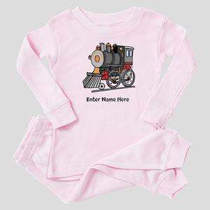 Personalized Train Engine Baby Pajamas