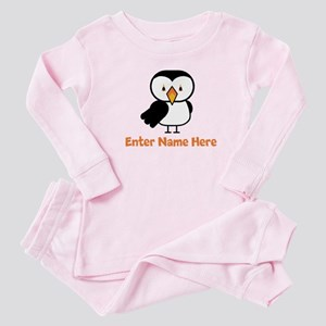 Personalized Puffin Baby Pajamas