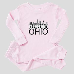 Cleveland Skyline Baby Pajamas