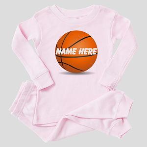 Customizable Basketball Ball Baby Pajamas