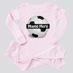 Personalized Soccer Ball Baby Pajamas