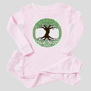 colored tree of life Baby Pajamas