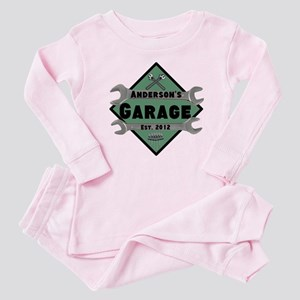 Personalized Garage Baby Pajamas