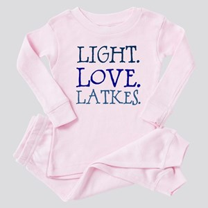Light. Love. Latkes. Baby Pajamas