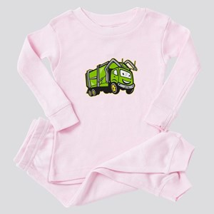 Garbage Rubbish Truck Cartoon Baby Pajamas