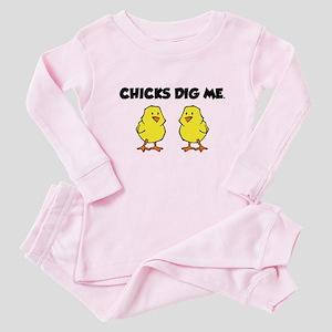 Chicks Dig Me Baby Pajamas
