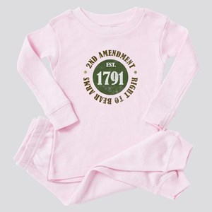 2nd Amendment Est. 1791 Baby Pajamas