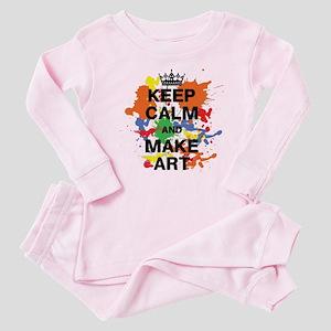 Keep Calm and Make Art Baby Pajamas